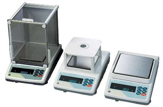 different configurations of the AnD GF  Scientific Weighing Balance