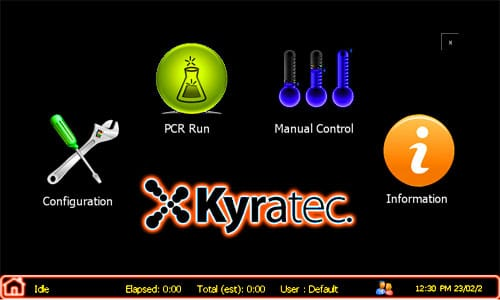 Kyratec PCR Cycler Touch Screen Interface
